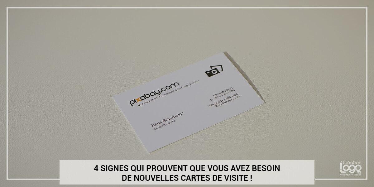 4 signes qui prouvent que vous avez besoin de nouvelles cartes de visite !