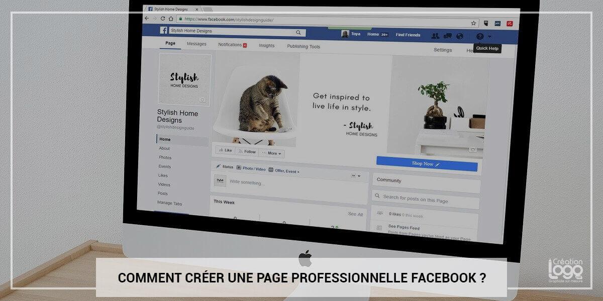 Comment créer une page professionnelle Facebook ?