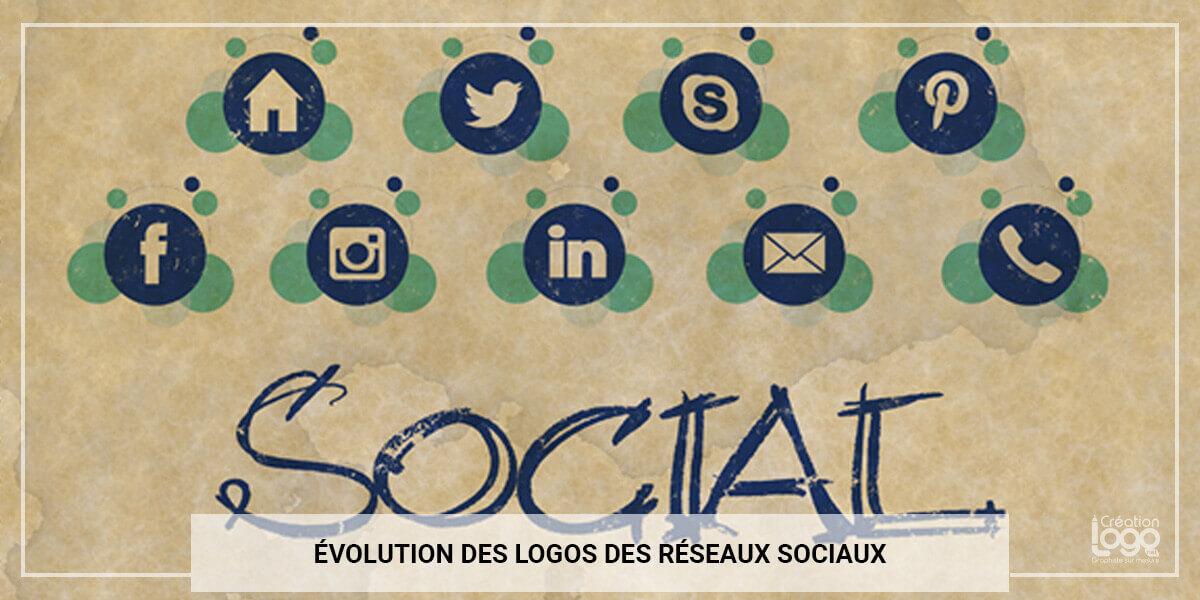 Évolution des logos des réseaux sociaux