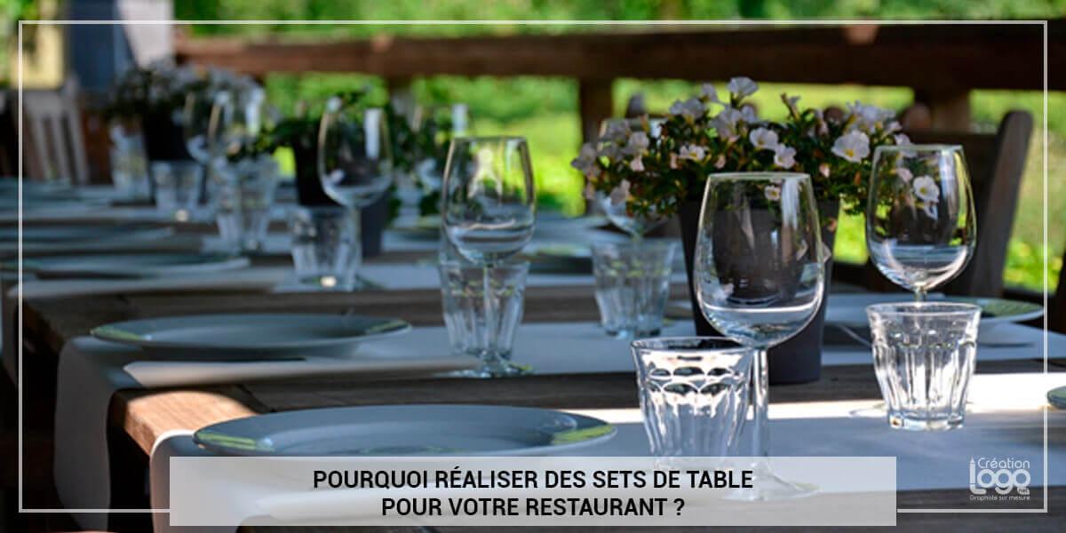 Pourquoi réaliser des sets de table pour votre restaurant ?